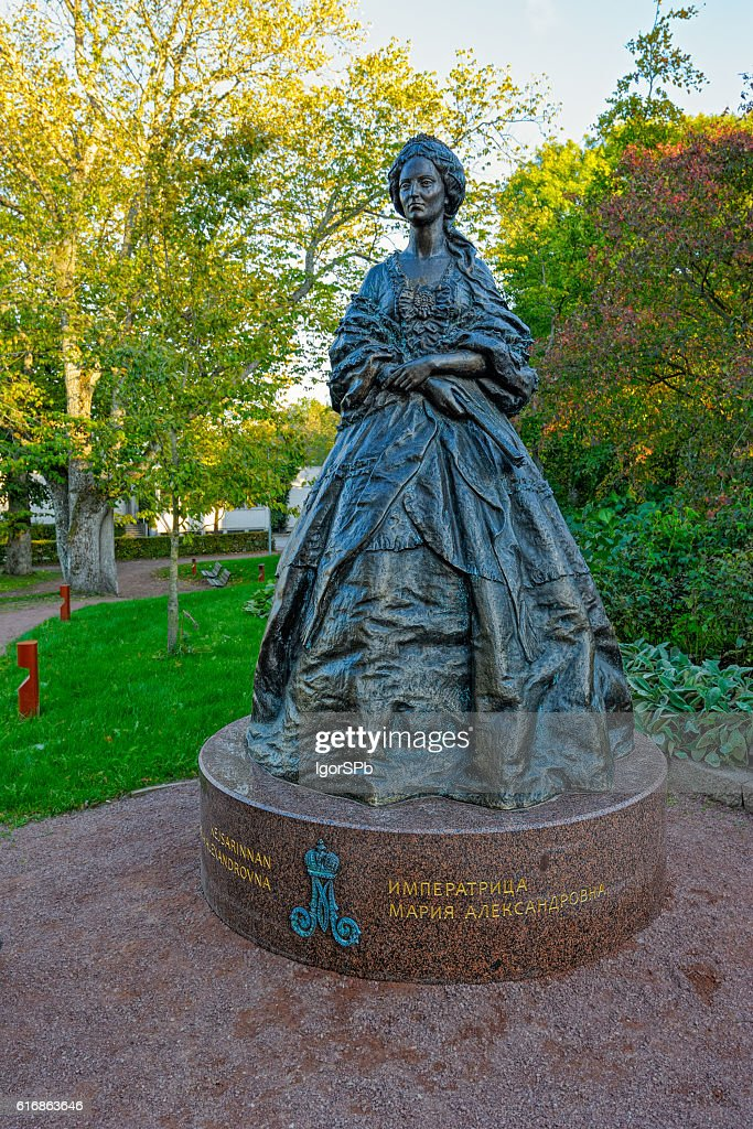 Monument to Russian empress Maria Alexandrovna in Mariehamn : Stock Photo