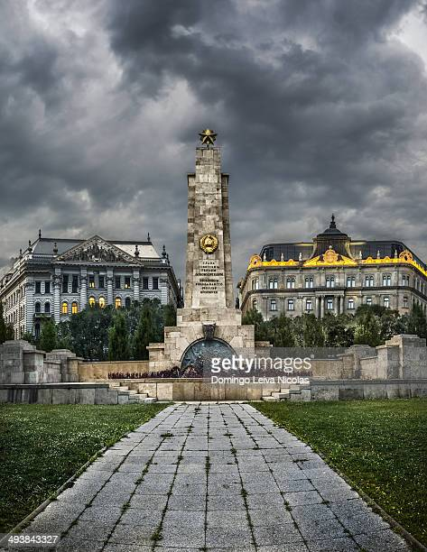 CONTENT] Monument to Soviet soldiers on Square of Freedom in Budapest Hungary