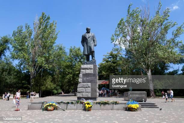 monument de taras shevchenko à odessa - gwengoat photos et images de collection