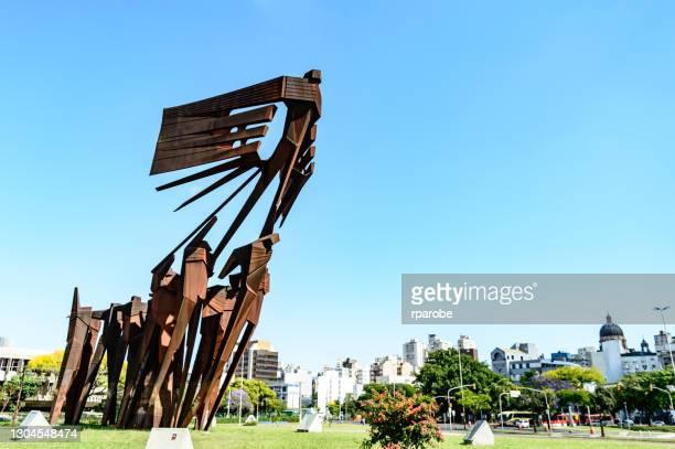 アゾレスの記念碑 - ポルトアレグレ ストックフォトと画像