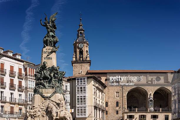 monument to the battle - vitoria spain stock pictures, royalty-free photos & images