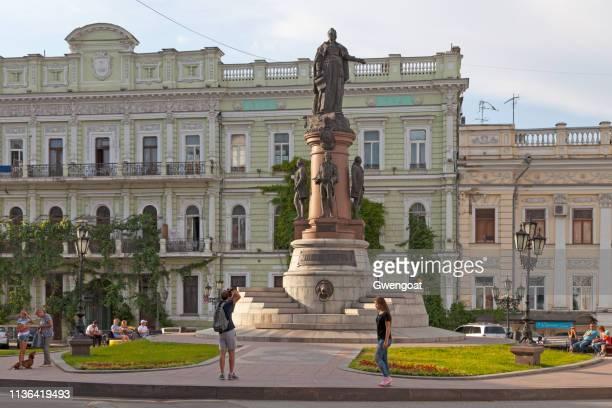 monumento a los fundadores de odessa - gwengoat fotografías e imágenes de stock