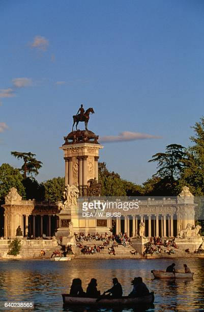 Monument to the King of Spain Alfonso XII Buen Retiro Park Madrid Spain 20th century