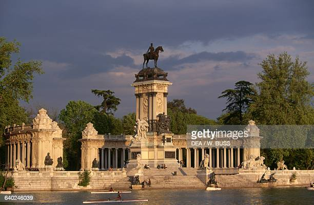 Monument to the King of Spain Alfonso XII Buen Retiro Park, Madrid. Spain, 20th century.