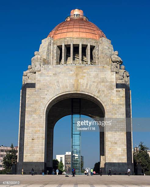 monument to the revolution in mexico city, mexico - mexican revolution stock photos and pictures