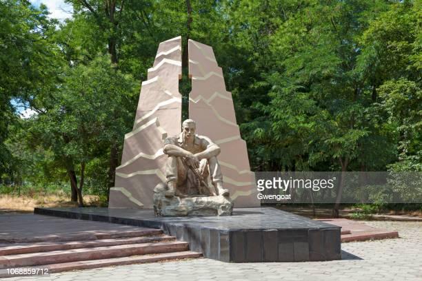 monumento aos soldados dos internacionalistas em odessa - gwengoat - fotografias e filmes do acervo