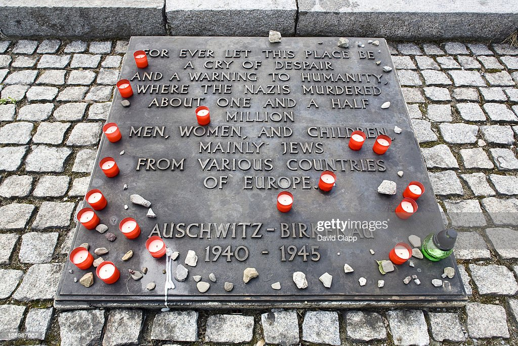 Monument to victims of Holocaust in Birkenau, Auschwitz Concentration Camp in Poland : Stock Photo