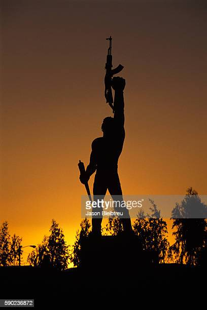 Monument to Victory at Sunset