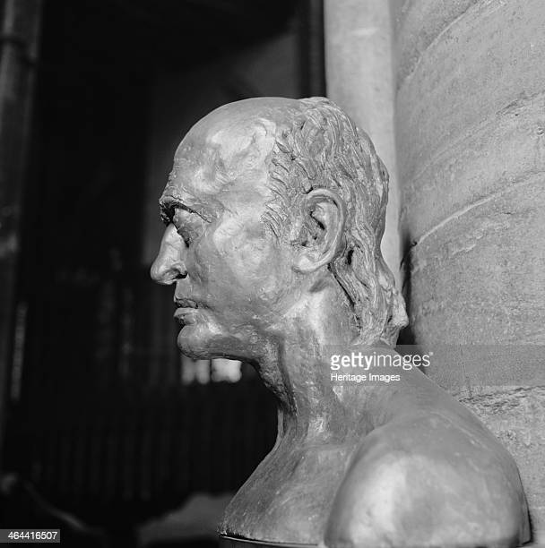 Monument to William Blake Westminster Abbey London 19571980 Photograph taken 19571980 showing a detail of the bronze bust of the poet William Blake...