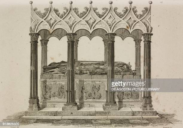 Monument to Wladyslaw II Jagiello Poland engraving by Lemaitre Vormser and Traversier from Pologne by Charles Foster L'Univers pittoresque Europe...