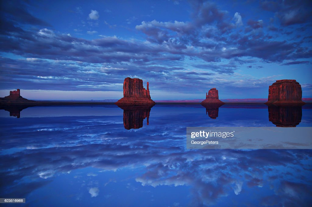 Monument Valley After The Flood : Stock Photo