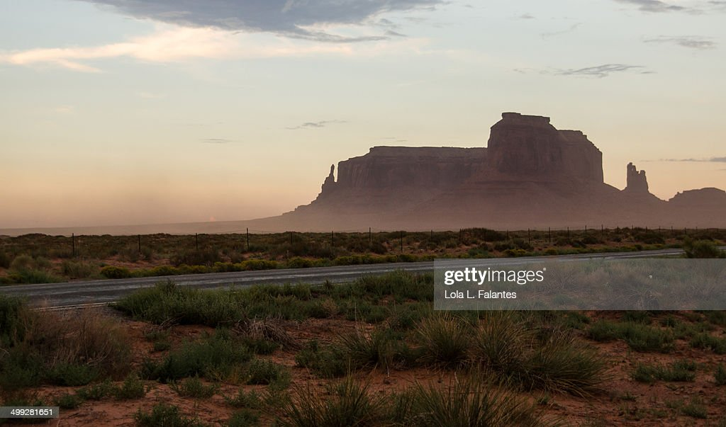 Monument Valley at dusk : Foto stock