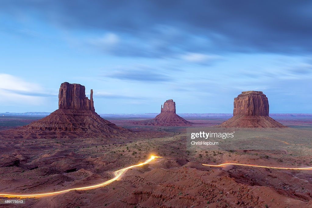 Monument Valley at Dusk, USA : Stock Photo