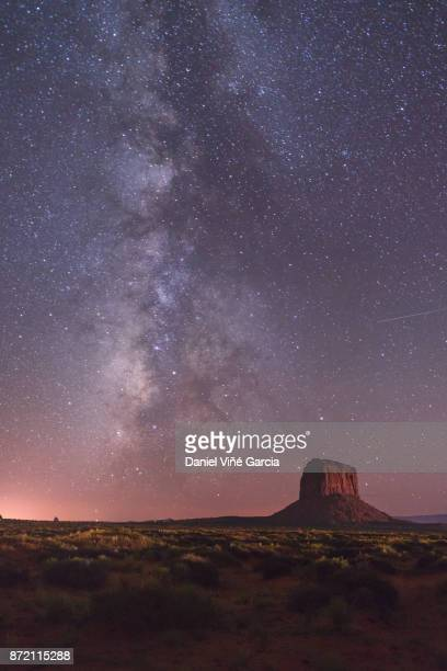 monument valley at night - monument valley tribal park stock photos and pictures