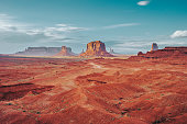 Monument Valley during a sunny day