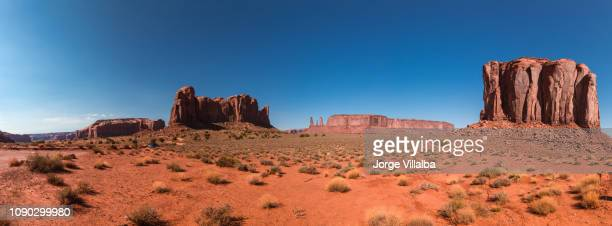 monument valley landscape with buttes - california stock pictures, royalty-free photos & images