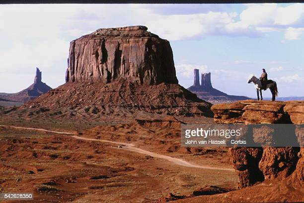 Monument Valley located on the Arizona Utah borderwhere film director John Ford used the location for his films