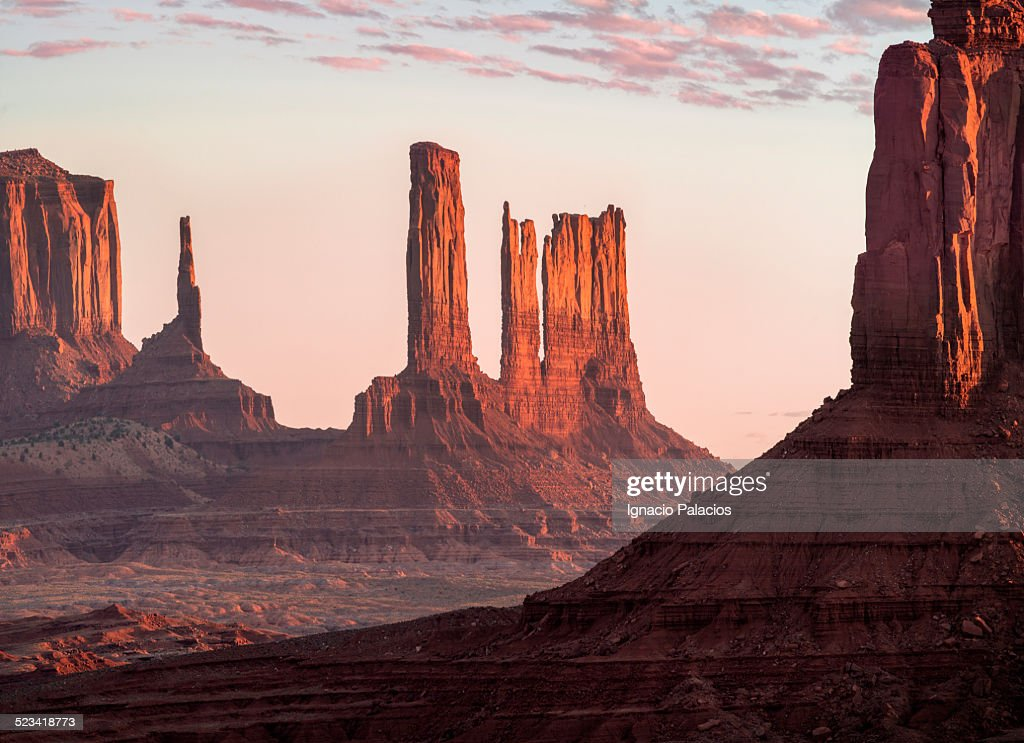 Monument Valley Mittens Navajo Tribal Reserve : Stock Photo
