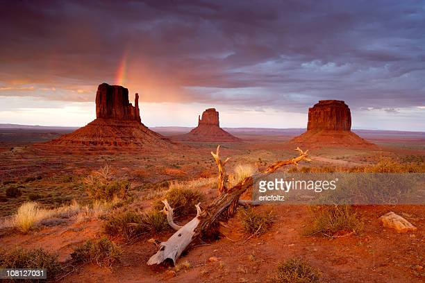 Monument Valley Navajo Tribal Park Rainbow and Storm Clouds