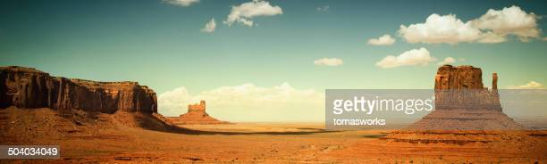 monument valley panorama - wild west stock pictures, royalty-free photos & images