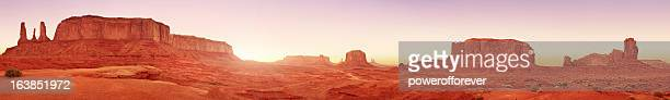 Monument Valley Sunset Panoramic