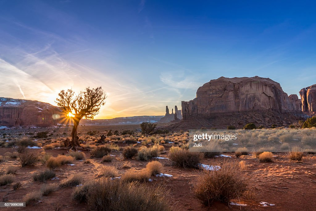 Monument Valley tramonto : Foto stock