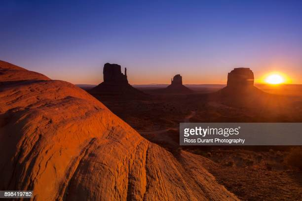 Monument Valley the Mittens sunrise
