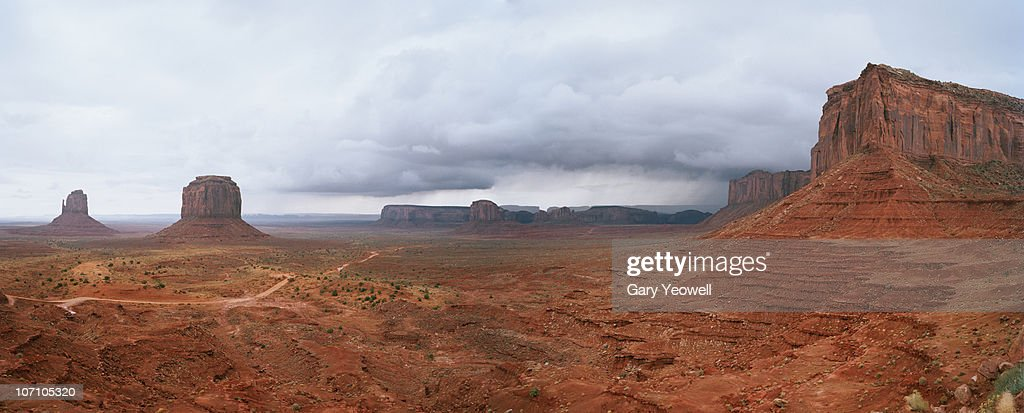 Monument Valley Tribal Park panorama : Stock Photo