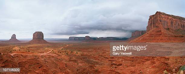 monument valley tribal park panorama - yeowell stock photos and pictures