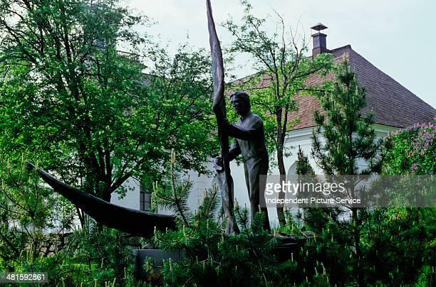 Monument with the inscription on the base 13751975 Kaarlela Karleby Kokkola Finland