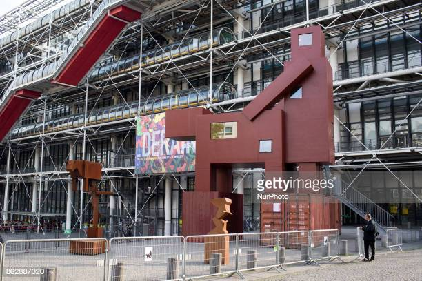 Monumental Domestikator Sculpture By Artist Joep Van Lieshout Has Been Displayed At Centre Georges Pompidou As Part of FIAC 2017 in Paris France on...