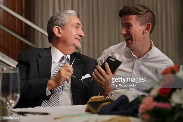 Monumental Sports and Entertainment CEO Ted Leonsis talks with SB Nation Senior Editor Nathan Scott after fivetime Olympic gold medal swimmer Katie...