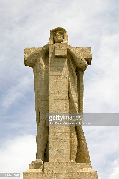 Monumento a Cristobal Colón a huge monument of Christopher Columbus by American architect Gv Whitney situated at the Punta de Sebo overlooking the...