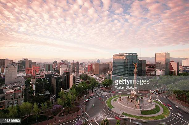 monumento a la independencia, mexico city - mexico city stock pictures, royalty-free photos & images