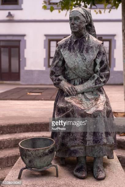 Monumento at 'la Mujer del Pescador ' in Llanes, Asturias, Spain on August 12, 2020.