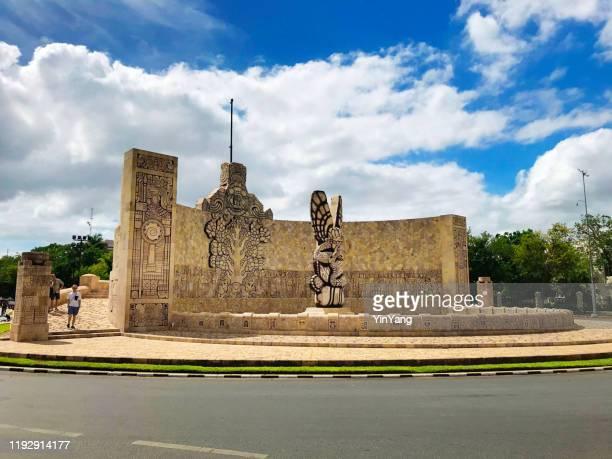 メリダ、ユカタン、メキシコのモニュメント・ア・ラ・パトリアまたは故郷の記念碑 - メリダ ストックフォトと画像