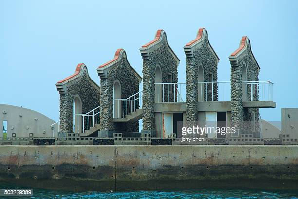 Monuments on the coast of Penghu County