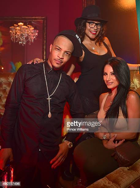 I Monyetta Shaw and Amy Eslami attend 'TIP's Birthhday Celbration' at Scales 925 Restaurant on September 25 2015 in Atlanta Georgia