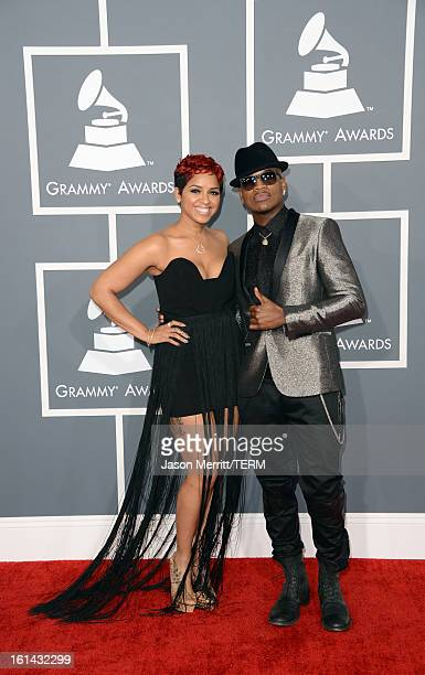 Monyetta Shaw and recording artist NeYo arrive at the 55th Annual GRAMMY Awards at Staples Center on February 10 2013 in Los Angeles California