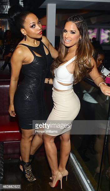 Monyetta Shaw and Rocsi Diaz attend Compound on January 24 2015 in Atlanta Georgia