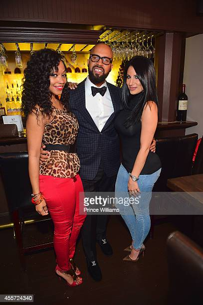 Monyetta Shaw Kenny Burns and Amy Eslami attend BMI dinner honoring Future at 10 degrees South Restaurant on September 18 2014 in Atlanta Georgia