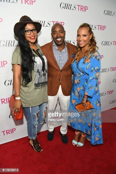 Monyetta Shaw Will Packer and Heather Hayslett Packer at Girls Trip Atlanta special screening at SCADshow on July 11 2017 in Atlanta Georgia