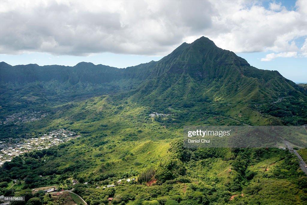 Mo'o Kapu o Haloa cliffs : Stock Photo