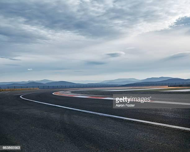 moody race track - desporto motorizado imagens e fotografias de stock