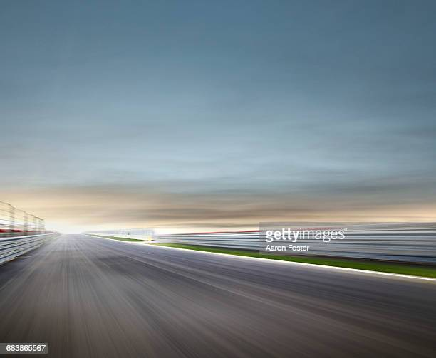 moody race track - motor racing track stock pictures, royalty-free photos & images