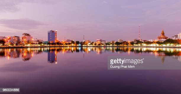 moody sky over city, ninh kieu, can tho, vietnam - can tho province stock pictures, royalty-free photos & images