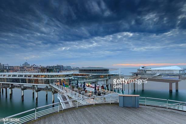 moody sky over the Pier of Scheveningen