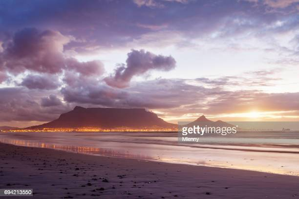 Moody Sunset Cape Town Sea Point Twilight Scene
