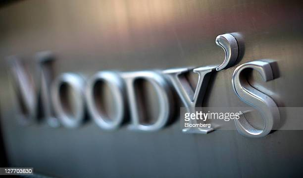 Moody's Investors Service Inc signage is displayed outside of the company's headquarters in New York US on Friday Sept 30 2011 Moody's Investors...