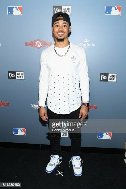 Mookie Betts attends the New Era Cap MLB AllStar Party 2017 at Beachcraft at 1 Hotel South Beach on July 9 2017 in Miami Beach Florida